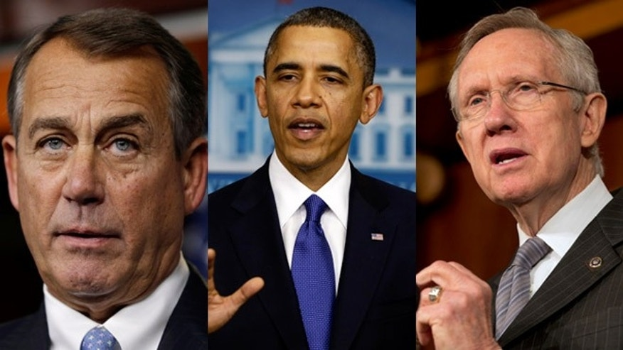House Speaker John Boehner, President Obama and Senate Democratic Leader Harry Reid have only a few days left to strike a deal averting sweeping tax hikes and spending cuts.