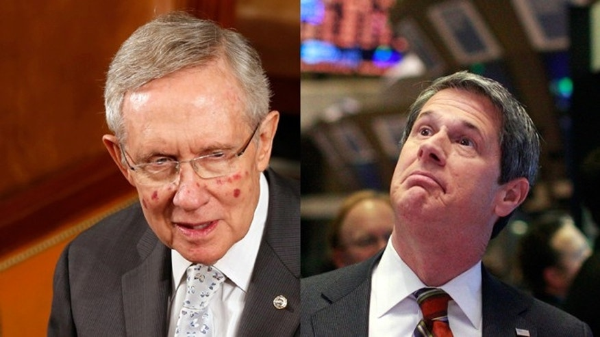 FILE: undated: Senate Majority Leader Harry Reid, D-Nevada, and Sen. David Vitter, R-La.