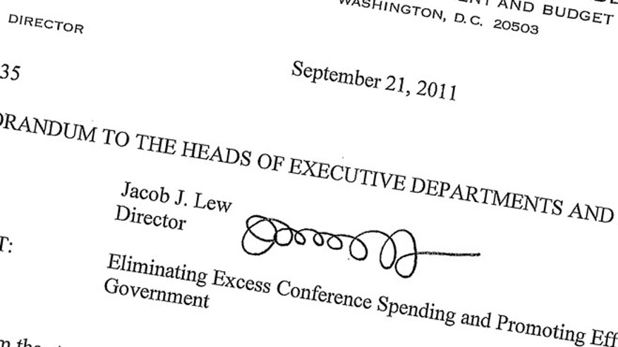 This Sept. 21, 2011, memo posted on the White House website shows then-Office of Management and Budget director Jack Lew's signature.
