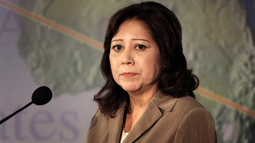 U.S. Department of Labor Secretary Hilda Solis (Photo by Bill Pugliano/Getty Images)