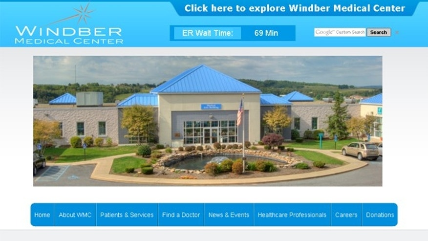 Windber Medical Center, scene here in a screengrab of its website, is about 60 miles southeast of Pittsburgh.