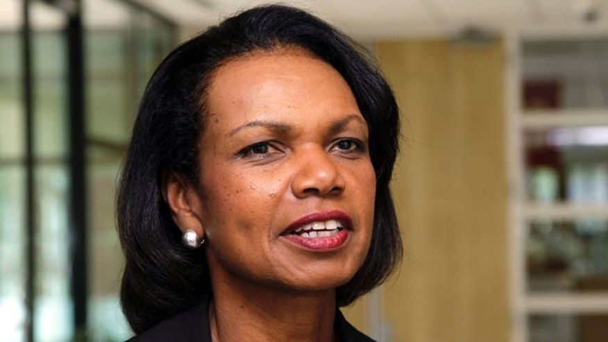 July 19, 2012: In this file photo, Condoleezza Rice talks on the Stanford University campus in Palo Alto, Calif. Rice has joined CBS News as a contributor.