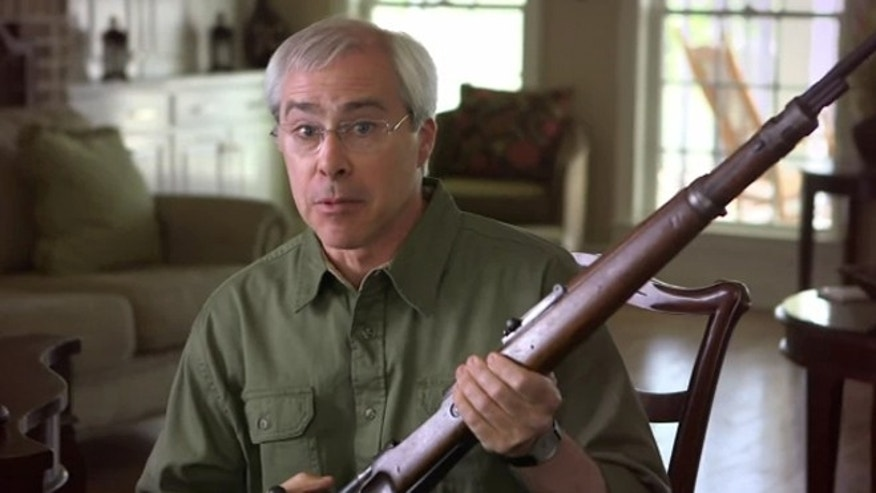 Shown here is an image from Rep. John Barrow's October 2012 ad, which was recently clipped for a video targeting Barrow over his endorsement from the NRA.