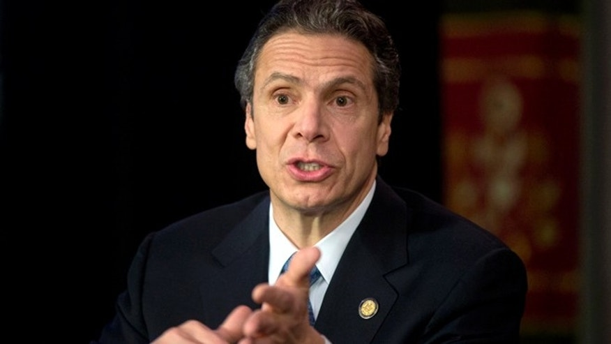 Jan. 14, 2013: New York Gov. Andrew Cuomo speaks during a news conference in Albany, N.Y.