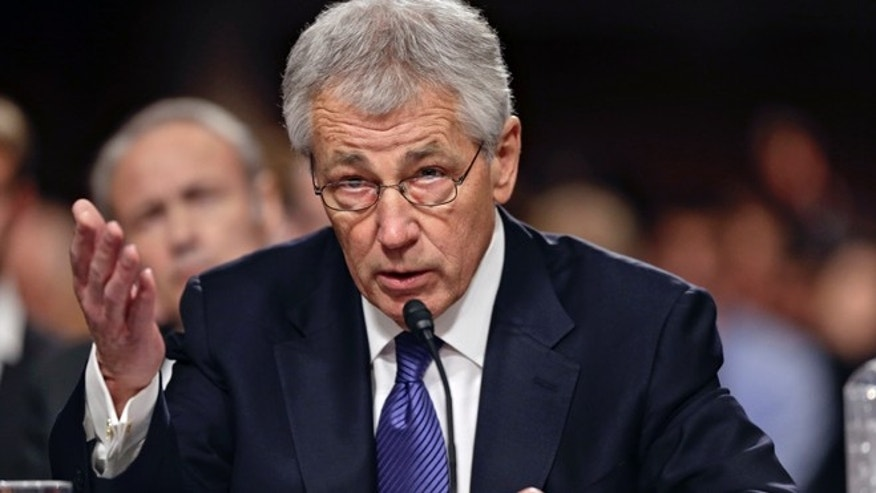 Jan. 31, 2013: Republican Chuck Hagel testifies before the Senate Armed Services Committee during his confirmation hearing on Capitol Hill.
