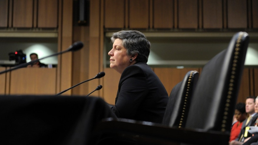 Wednesday, Feb. 13, 2013: Homeland Security Secretary Janet Napolitano testifies before the Senate, in Washington, D.C., on immigration reform.
