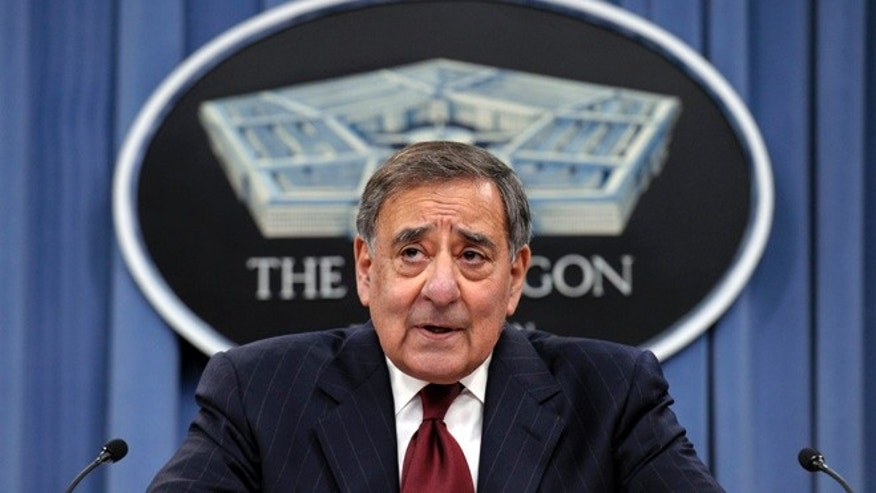 Feb. 13, 2013: Outgoing Defense Secretary Leon Panetta speaks during his last news conference as defense secretary at the Pentagon.