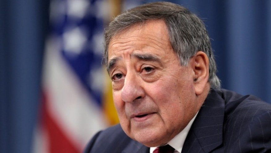 Feb. 13, 2013: Defense Secretary Leon Panetta speaks during his last news conference as defense secretary at the Pentagon in Washington.