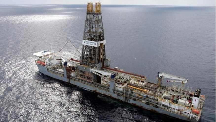 FILE: Chevron Discoverer Deep Seas drillship in the Gulf of Mexico.