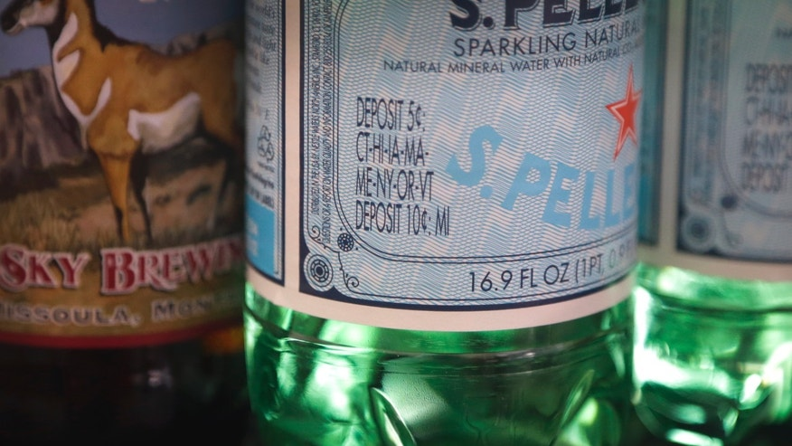 Feb. 23, 2013: A Michigan deposit is shown printed on a beverage in Detroit.