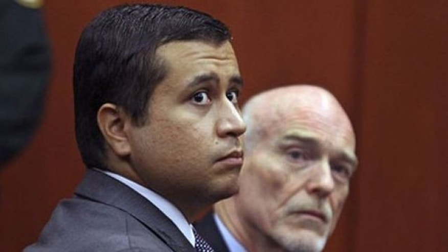 June 2012: George Zimmerman, left, and attorney Don West appear at a bond hearing in Sanford, Fla.