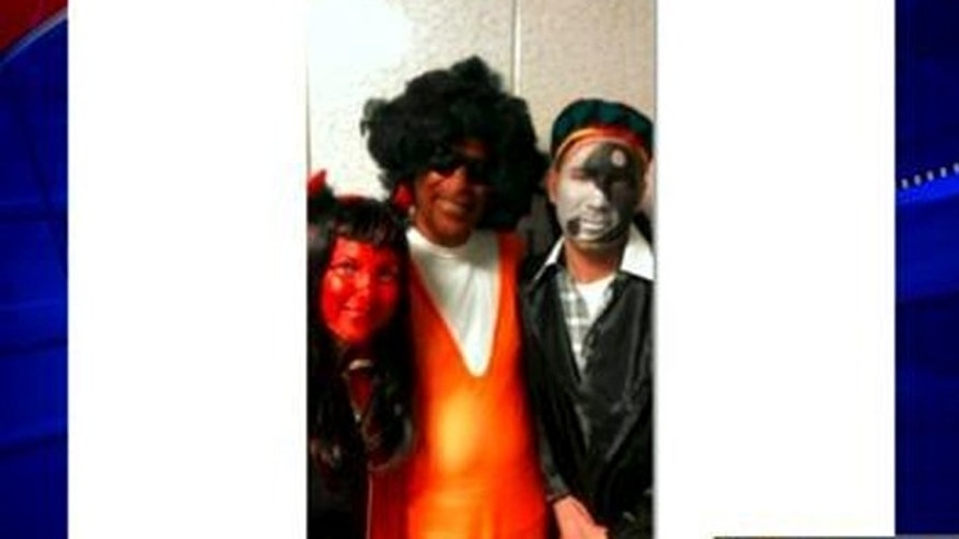 New York Assemblyman Dov Hikind is pictured wearing a blackface, an Afro wig and a basketball jersey to a costume party for a Jewish holiday.
