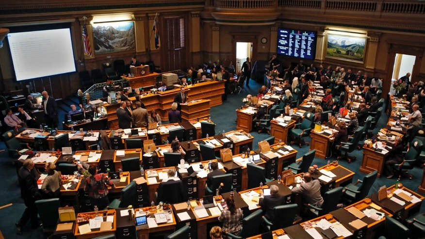 Feb. 15, 2013: House members gather at the Capitol in Denver to debate gun control legislation.