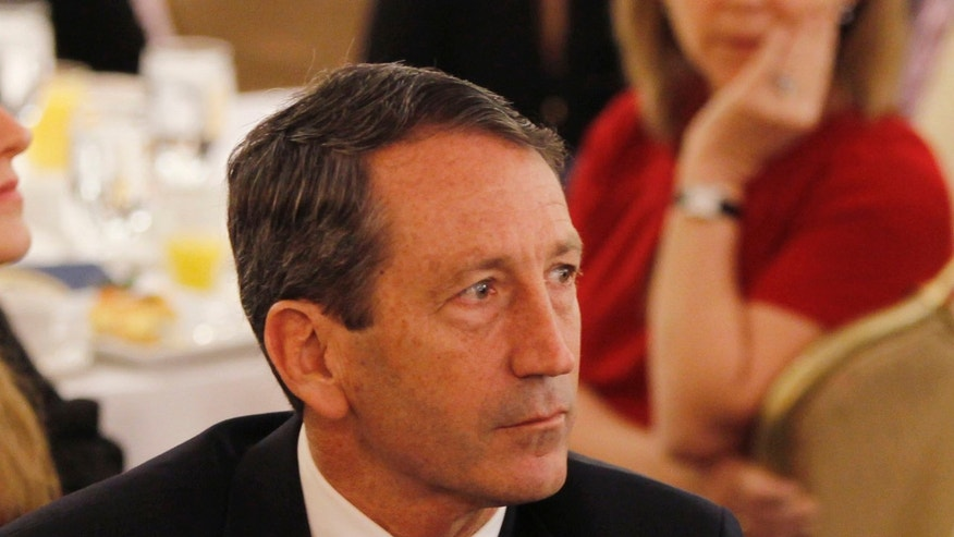 FILE: February 4, 2010: Then-South Carolina Gov. Mark Sanford at the National Prayer Breakfast in Washington, D.C.