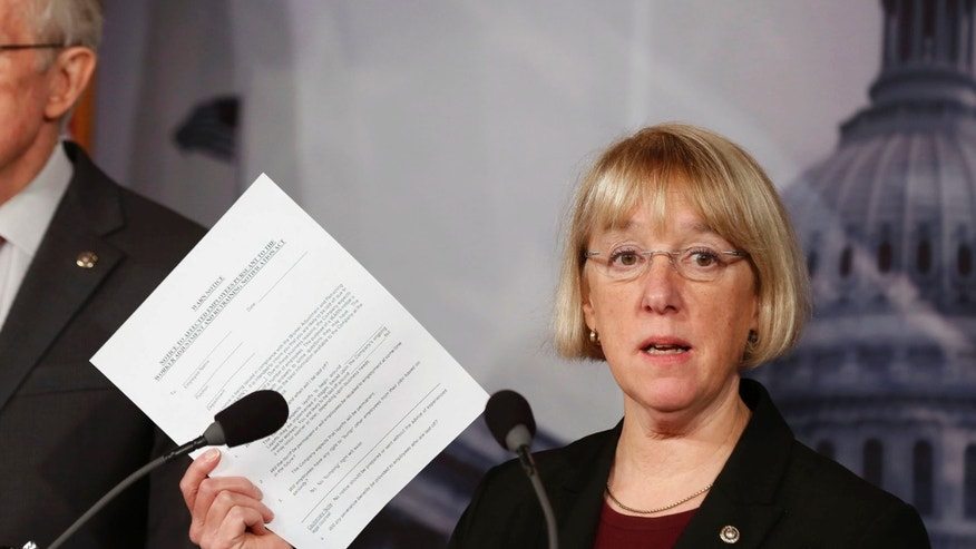 FILE: Feb. 28, 2013: Senate Budget Committee Chairman Sen. Patty Murray, D-Wash., at a news conference on Capitol Hill in Washington, D.C.