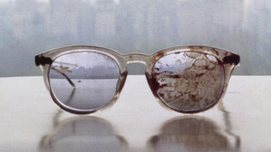 This photo of John Lennon's glasses was posted on Yoko Ono's Twitter account, and retweeted by Organizing for Action.