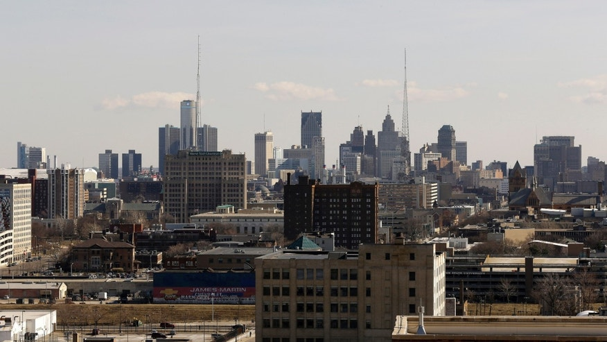 March 14, 2013: File photo of the skyline of the city of Detroit. Kevyn Orr, Detroits state-appointed emergency manager, has yet to step into his Detroit office, but the acclaimed bankruptcy lawyer knows the clock already is ticking down on the future of the city.