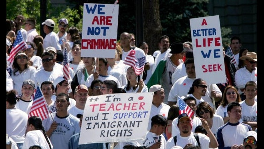 Immigrant rights rally in Colorado.
