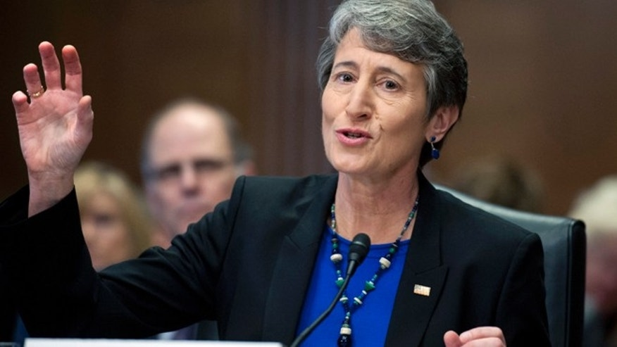 March 7, 2013: Interior secretary nominee Sally Jewell testifies on Capitol Hill.