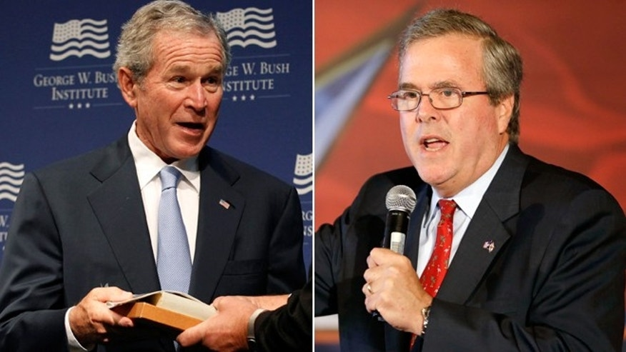 Former President George W. Bush, left, and Former Fla. Gov. Jeb Bush.