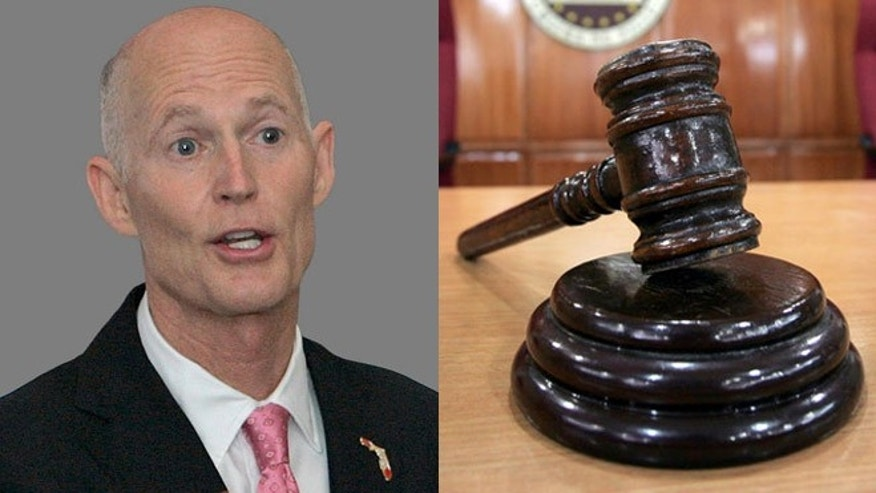 Shown here is Florida Gov. Rick Scott.