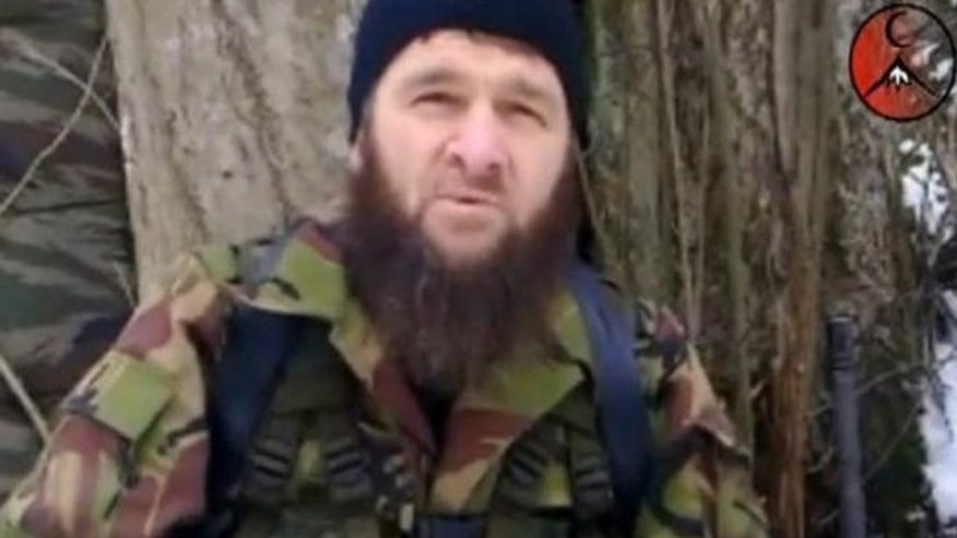 Shown here is Doku Umarov, in a video released by his group's Kavkaz Center.