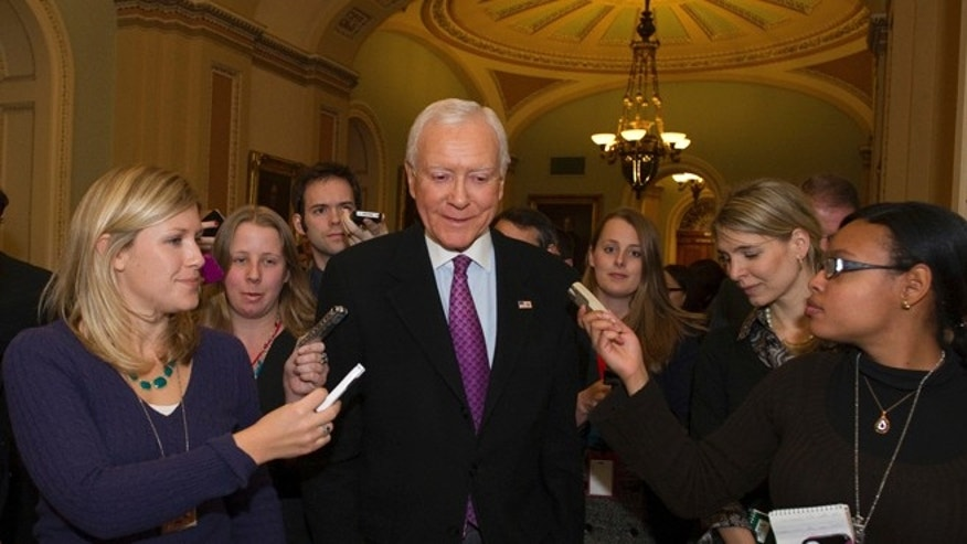 FILE: Dec. 31, 2012: Sen. Orrin Hatch, R-Utah, in the hall of the U.S. Capitol, in Washington, D.C.