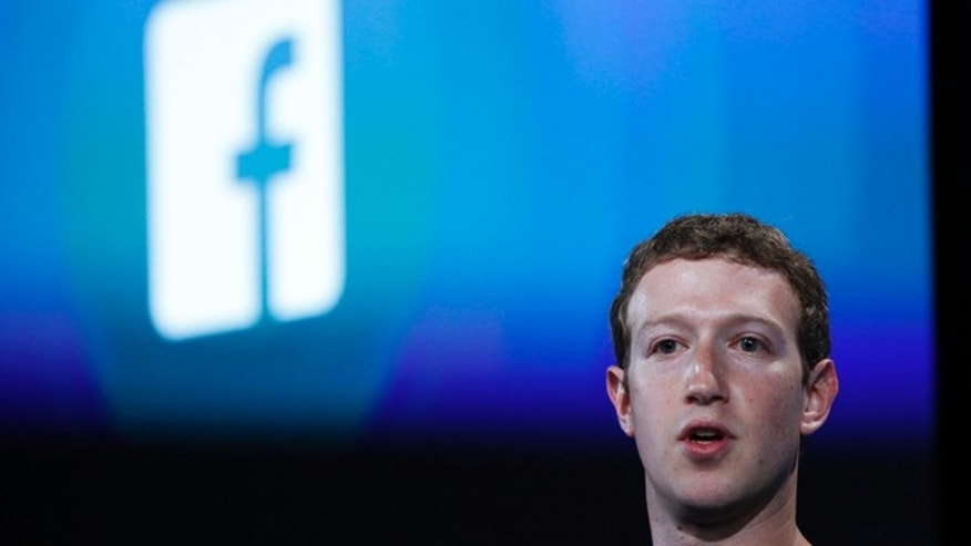 FILE: April 4, 2013: Facebook founder Mark Zuckerberg during a company press event in Menlo Park, Calif.