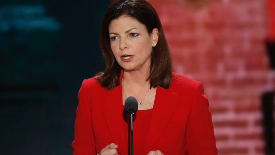Aug. 29, 2012: Senator Kelly Ayotte addresses the second session of the Republican National Convention in Tampa, Florida.