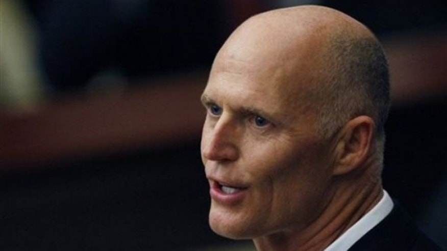 March 8, 2012: Florida Gov. Rick Scott delivers his state of the state speech to the Florida legislature in Tallahassee.