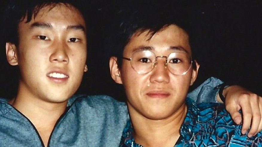 A photo provided by Bobby Lee, shows Kenneth Bae, right, and Bobby Lee  together when they were freshmen students at the University of Oregon in 1988.