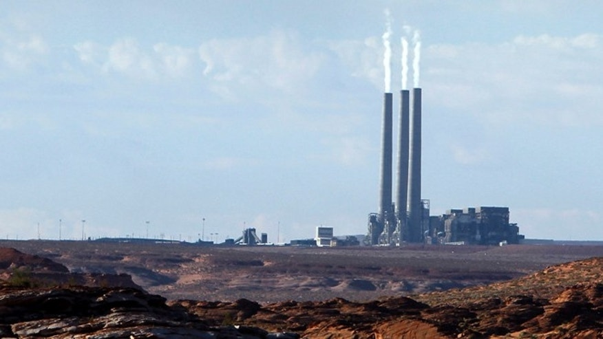 Sept. 4, 2011: Shown here is the main plant facility at the Navajo Generating Station, as seen from Lake Powell in Page, Ariz.