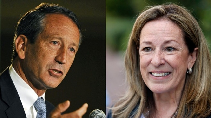 Shown here are former South Carolina Gov. Mark Sanford, left, and Elizabeth Colbert Busch, who are competing for an open House seat.