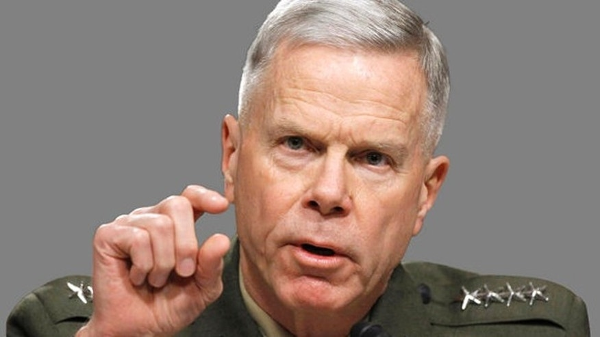 Shown here is Marine Corps Commandant Gen. James Amos.