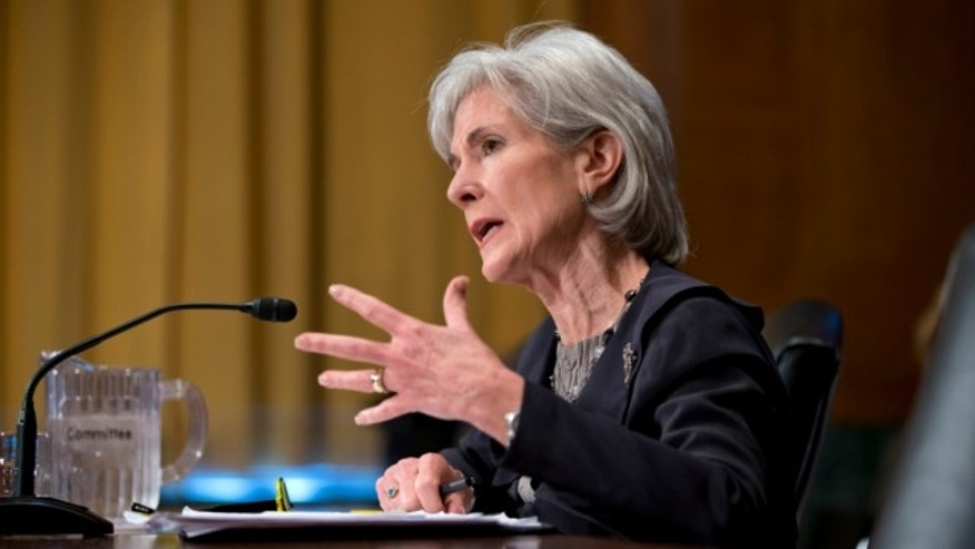 April 17, 2013: Health and Human Services Secretary Kathleen Sebelius testifies on Capitol Hill in Washington.