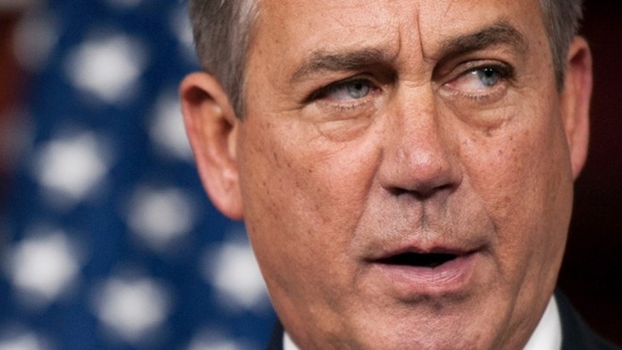 May 9, 2013: House Speaker John Boehner meets with the news media at the U.S. Capitol.