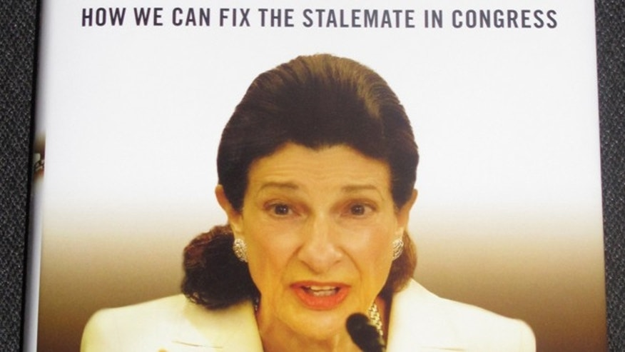 FILE: May 11, 2103, The cover of former Sen. Olympia Snowe's new book, which is being released Tuesday. The picture of the book was taken in Portland, Maine.