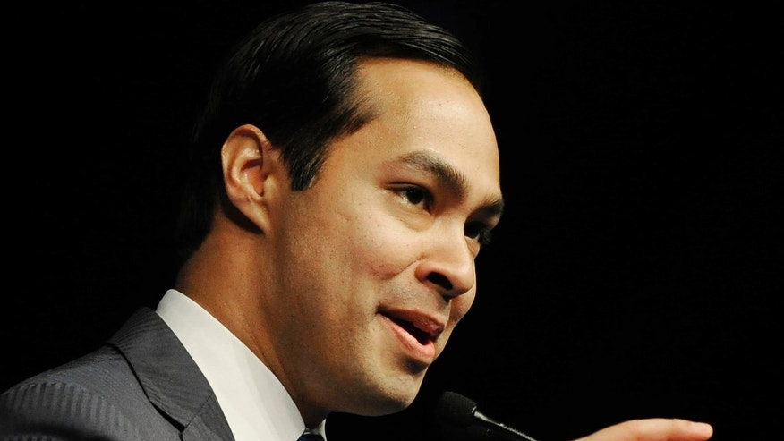 FILE - In this June 8, 2012, file photo, San Antonio Mayor Julian Castro gives the keynote address at the Texas Democratic Convention in Houston. Castro has been tapped by the Democrats for the high-profile spot of keynote speaker at the Democratic National Convention in Charlotte, N.C., the first Hispanic keynote speaker.  Long gone are the passionate debates. Long gone is the suspense about who will emerge as the party's presidential nominee. Political conventions now are carefully scripted pep rallies aimed at a national TV audience. Not since the 1970s, in fact, has the nation had a major-party national convention begin with the nominee in doubt. Americans already know how the story will end at this year's Republican and Democratic national gatherings. So have modern-day conventions become irrelevant?  (AP Photo/Pat Sullivan, File)