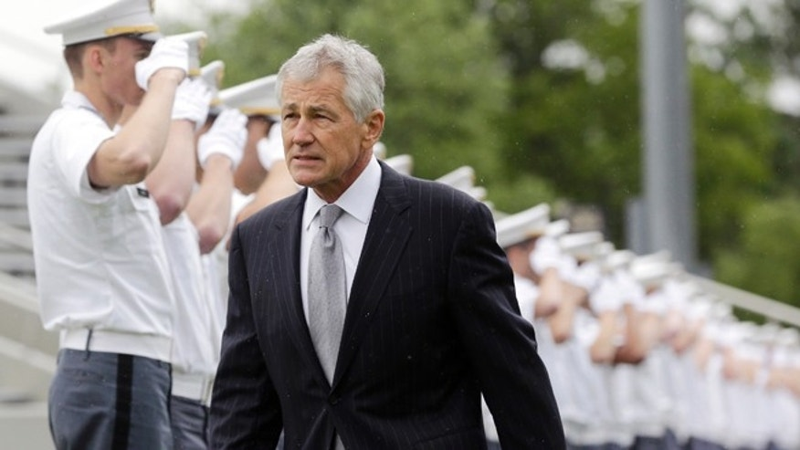 Saturday, May 25, 2013: Defense Secretary Chuck Hagel at graduation and commissioning ceremony at the U.S. Military Academy on  in West Point, N.Y.