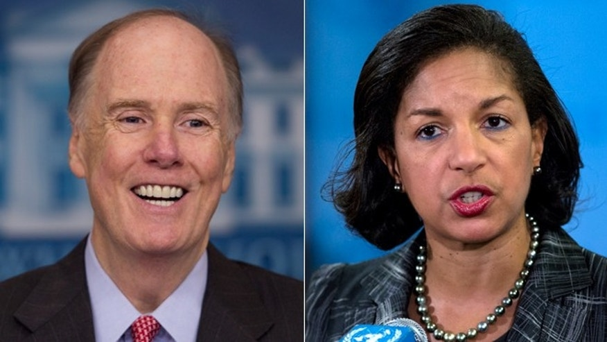 June 5, 2013: A White House official tells Fox News Tom Donilon, left, is resigning as President Barack Obama's national security adviser and will be replaced by Susan Rice.