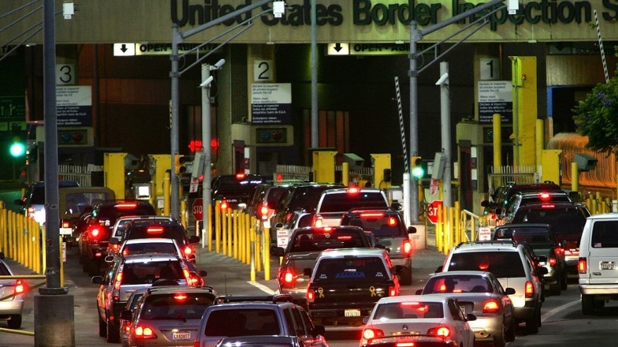 This border crossing from Tijuana to San Ysidro, California is the world's busiest border crossing.