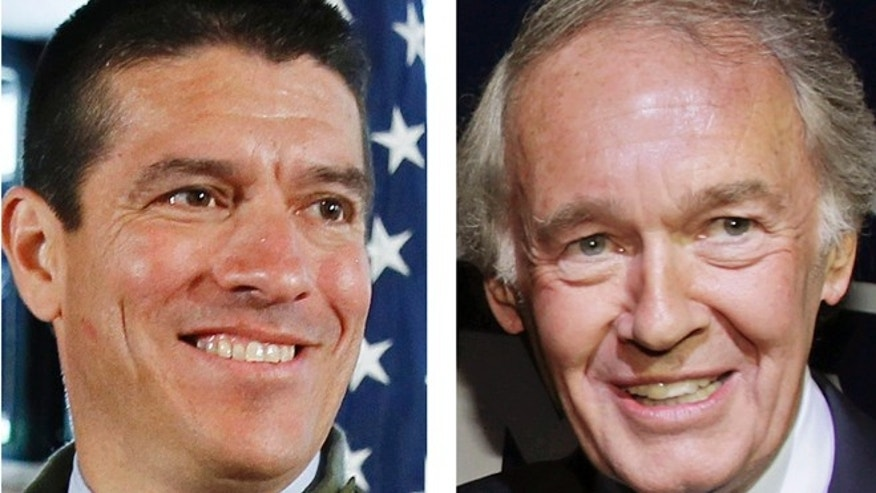 FILE: May 2013:  Republican Gabriel Gomez and Democrat U.S. Rep. Ed Markey, candidates for Senate in the June 24, 2013 special election in Massachusetts.