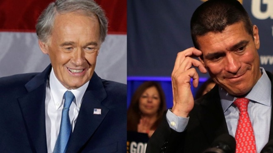 Democratic candidate Edward Markey (left) won John Kerry's vacated Massachusetts Senate seat on Tuesday against Republican challenger Gabriel Gomez (right).