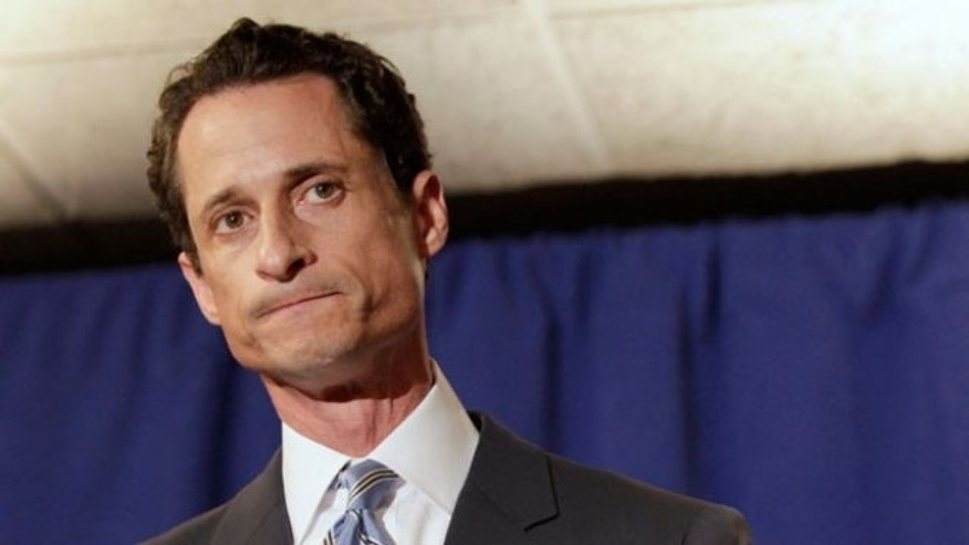 June 6, 2011: Former congressman Anthony Weiner speaks to the press in New York.