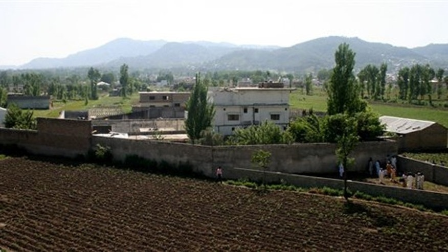 Shown here is a view of Usama bin Laden's compound in Abbottabad, Pakistan, on May 3, 2011.