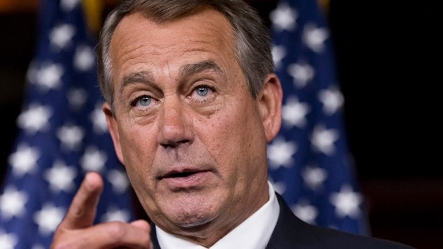 June 20, 2013: House Speaker John Boehner speaks on Capitol Hill.