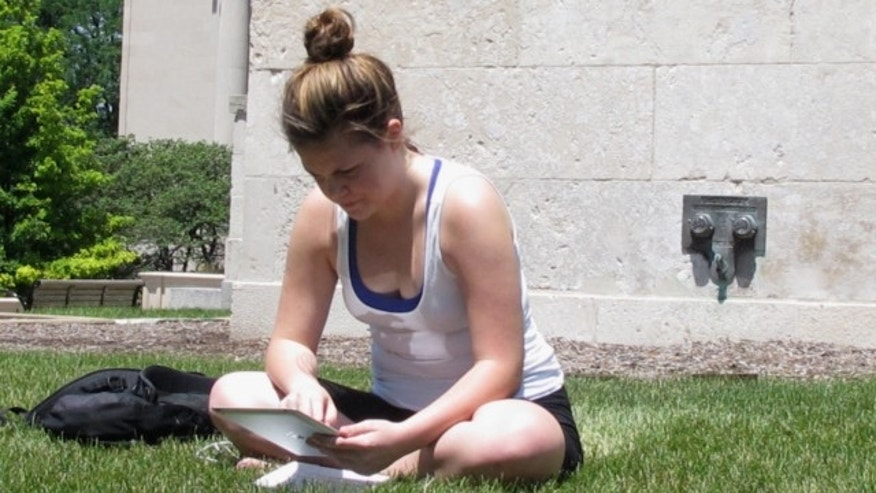 July 1, 2013: University of Iowa student Angie Platt, 20, is seen on campus in Iowa City, Iowa.