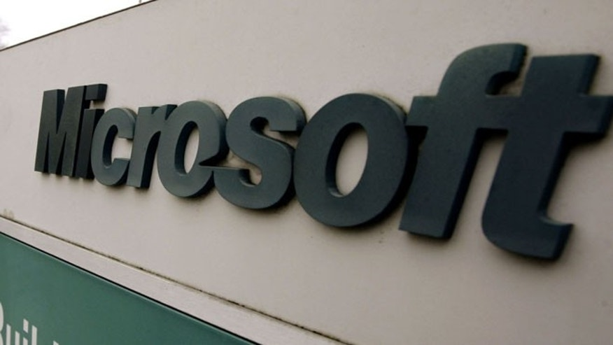 Shown here is a Microsoft sign outside the headquarters campus in Redmond, Wash.
