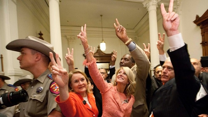 Friday night, July 12, 2013: Texas Democratic state senators tell advocates they voted against an omnibus abortion bill that is one of the most restrictive in the country.