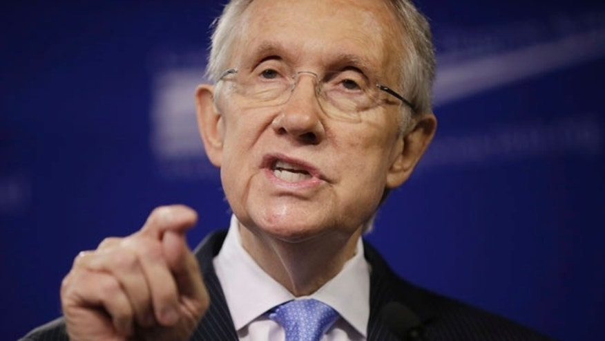 Senate Majority Leader Harry Reid speaks at the Center for American Progress Action Fund in Washington.
